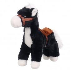 Damian - fekete plüss ló