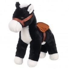 Dylan - fekete plüss ló