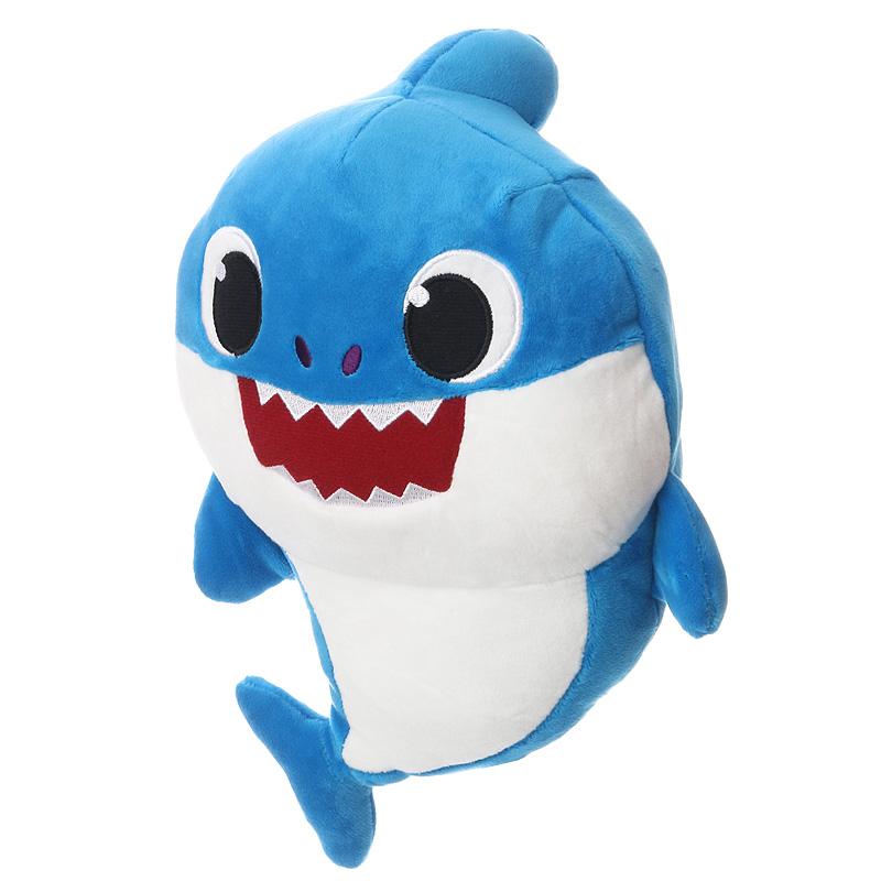 Apa cápa - Baby Shark zenélő plüss 22cm