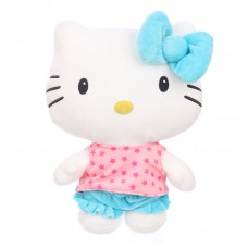 Hello Kitty plüss - kék masnival