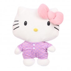 Hello Kitty plüss - rózsaszín masnival