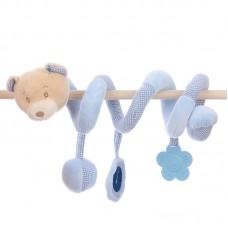 Baby plüss spirál - kék maci