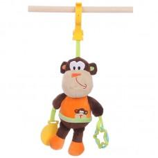 Csíptethető, rágókás baby plüss - majom