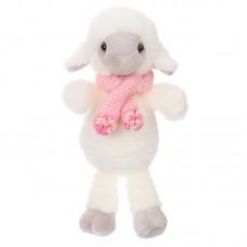 Ervina - plüss bárány rózsaszín sállal