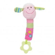 Baby plüss csörgő - rózsaszín bárány
