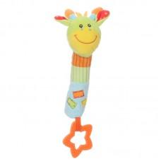 Baby plüss csörgő - zsiráf