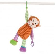 Baby plüss játék csörgővel - majom