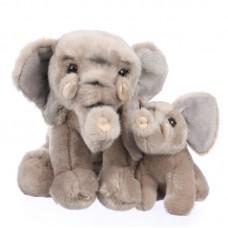 Cherie és Kloé - plüss elefánt gyermekével