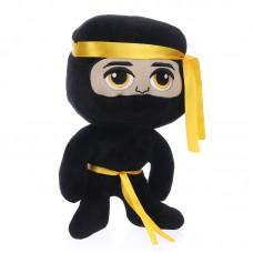 Ninja plüss figura - fekete