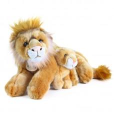 Kéti és Lia - plüss oroszlán mama kölykével