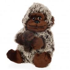Adalina - barna plüss gorilla kicsinyével