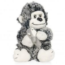 Adalina - szürke plüss gorilla kicsinyével
