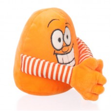 Kacagó plüss labda - narancssárga