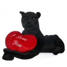 Drako a szerelmes - óriási plüss fekete párduc