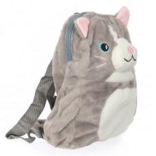 Cicás plüss hátizsák - szürke