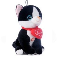 Elena - fekete fehér plüss cica