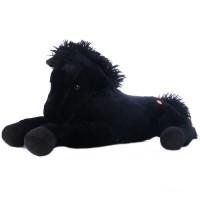 Franco - fekete plüss ló
