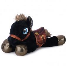 Tacito - fekete plüss ló