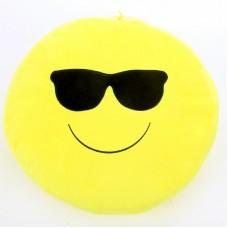 Plüss emoji párna - napszemüveges