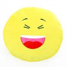 Plüss emoji párna - kacagó