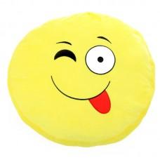 Plüss emoji párna - kacsint és nyelvet nyújt