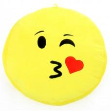 Plüss emoji párna - puszit dob