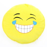 Plüss emoji párna - sírva nevetős