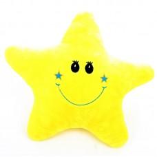 Csillag alakú párna - citromsárga