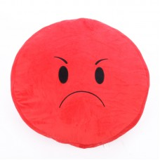 Plüss emoji párna - mérges arc