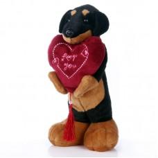 Maxi - plüss kutyus szívvel