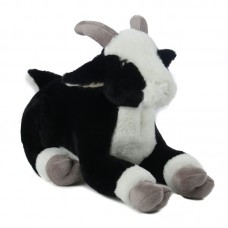 Jezza - fekete plüss kecske