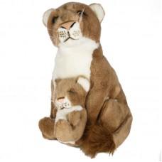 Oroszlán anyuka gyermekével - plüss oroszlán