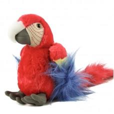 Gigi - plüss piros papagáj