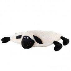 Tépőzáras díszpárna - fekete bárány