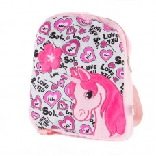 Rózsaszín hátizsák unikornis mintával