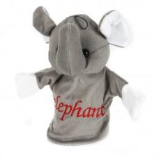Elefántos plüss bábfigura