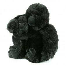 Plüss gorilla, gyermekével