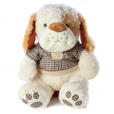Marwin - fehér plüss kutya