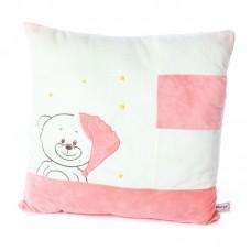Rózsaszín macis plüss párna