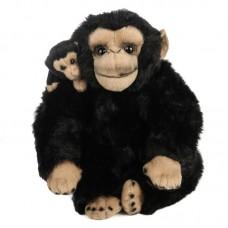 Plüss csimpánz gyermekével