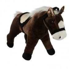 Neil - Sötétbarna plüss ló