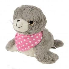 Arin - plüss fóka rózsaszín kendővel