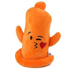 Narancssárga, puszit küldő plüss óvszer