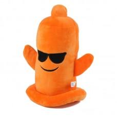 Narancssárga, napszemüveges plüss óvszer