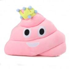 Rózsaszín plüss kaki párna