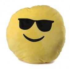 Napszemüveges smiley plüss párna