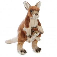 Devi - plüss kenguru gyermekével