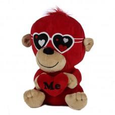 Szerelmes piros plüss majom