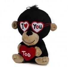Szerelmes fekete plüss majom