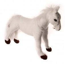 Carlin - fehér plüss ló